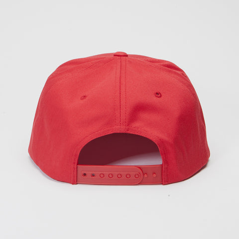 Yupoong The Classic 5 Panel Snapback Red