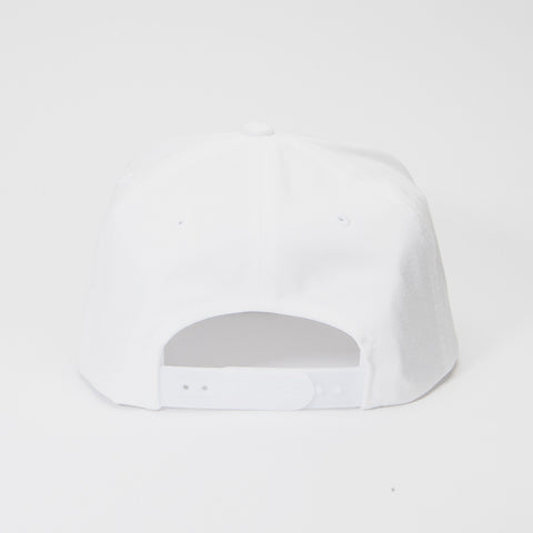 Yupoong The Classic 5 Panel Snapback White