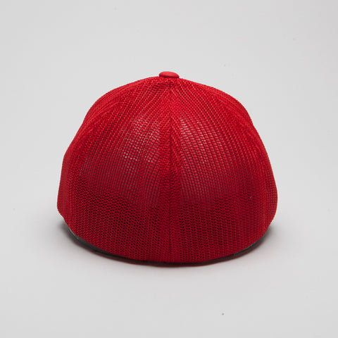 Flexfit Mesh Trucker Hat Red
