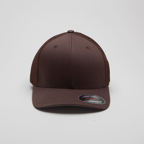 Flexfit Mesh Trucker Hat Brown
