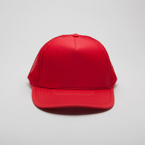 Polyester Foam Front Five Panel Red