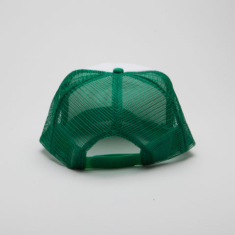 Polyester Foam Front Five Panel Kelly Green/White/Kelly Green