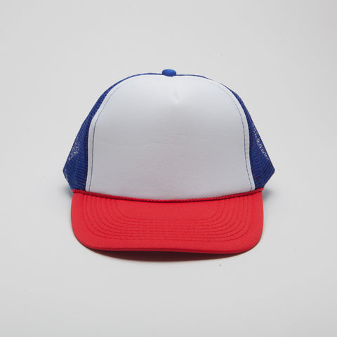 Polyester Foam Front Five Panel Royal/White/Red