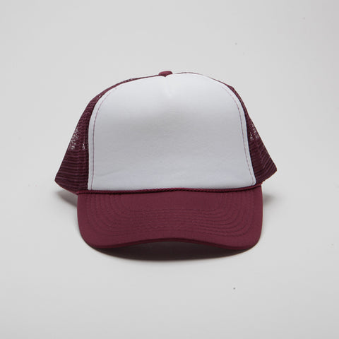 Polyester Foam Front Five Panel Maroon/White/Maroon