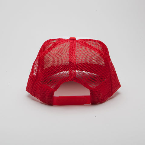 Polyester Foam Front Five Panel Red/White/Red