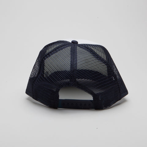 Polyester Foam Front Five Panel Navy/White/Navy