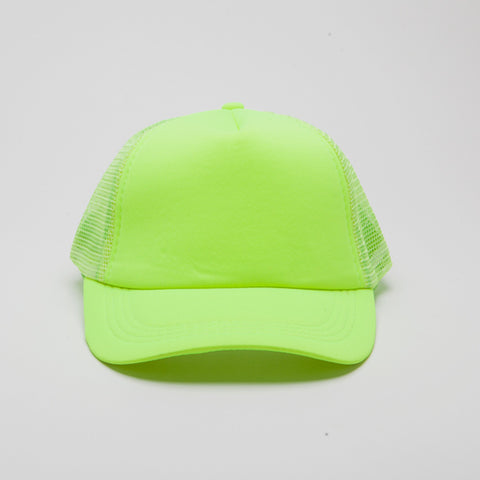 Polyester Foam Front Five Panel Neon Lime