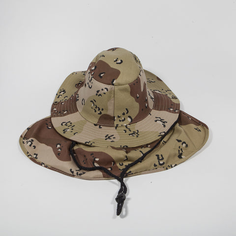 Bucket Hat with Neck Cover Desert Camo