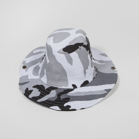 Bucket Hat Light Grey Camo