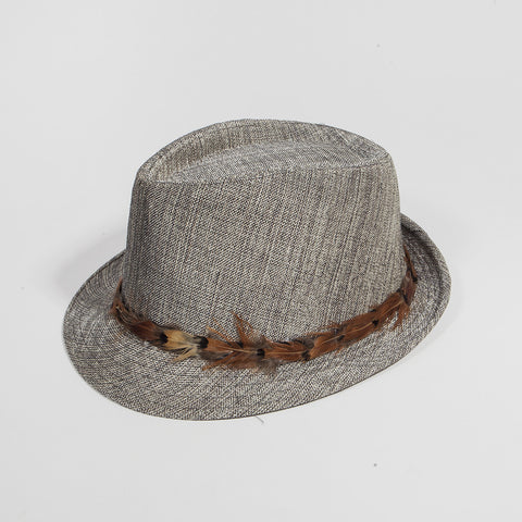 Feather Band Fedora Hat