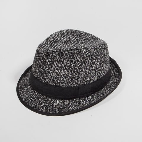 Black Wooly Fedora Hat