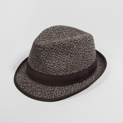 Brown Wooly Fedora Hat