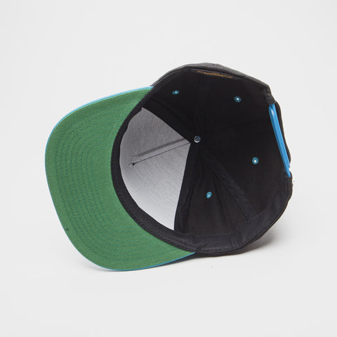 Yupoong The Classic 5 Panel Snapback Black/Teal
