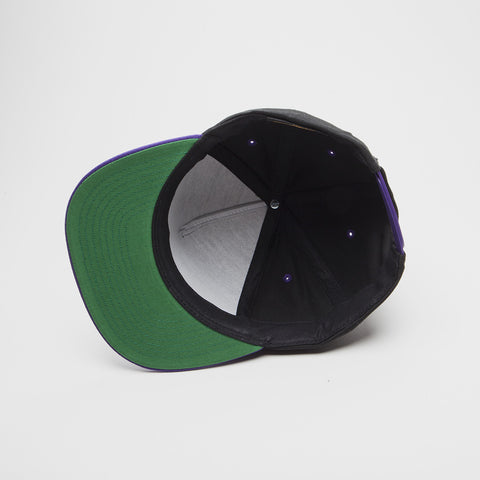 Yupoong The Classic 5 Panel Snapback Black/Purple