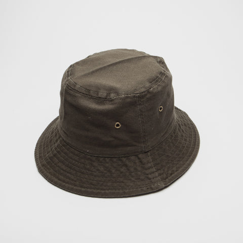 100% Cotton Bucket Hat Olive