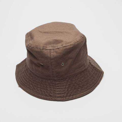 100% Cotton Bucket Hat Brown