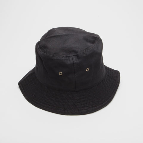 100% Cotton Bucket Hat Black