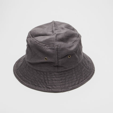 100% Cotton Bucket Hat Charcoal