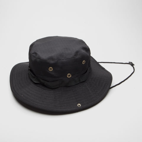Bucket hat Boonie Fishing Hunting Outdoor Black