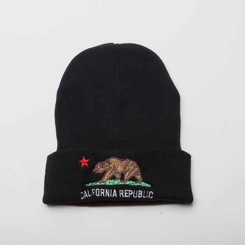 California Republic Bear Long Cuff Beanie
