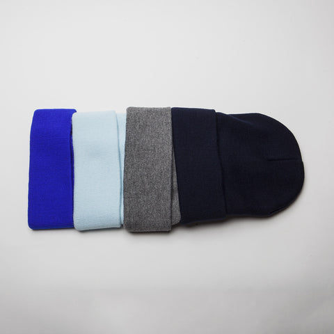 Plain Long Cuff Beanie Navy