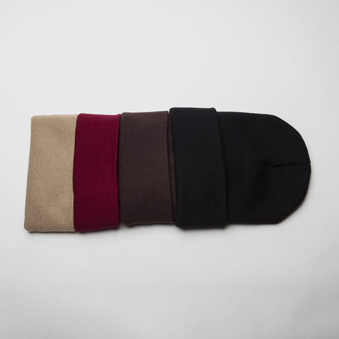 Plain Long Cuff Beanie Black