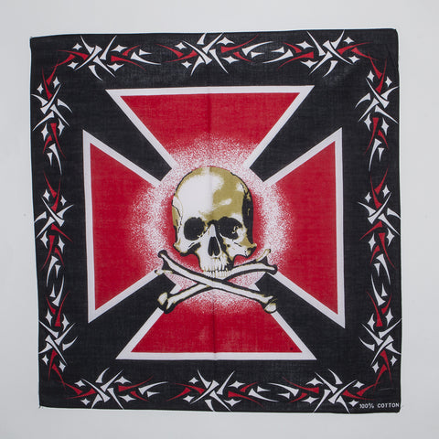 Cross W/Skull Bandanas (Dozen Packed)