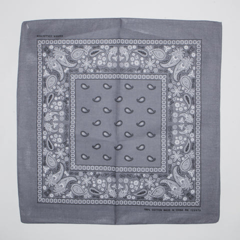 Classic Paisley Pattern Bandanas (Dozen Packed) Dark Grey