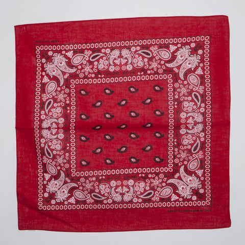 Classic Paisley Pattern Bandanas (Dozen Packed) Red