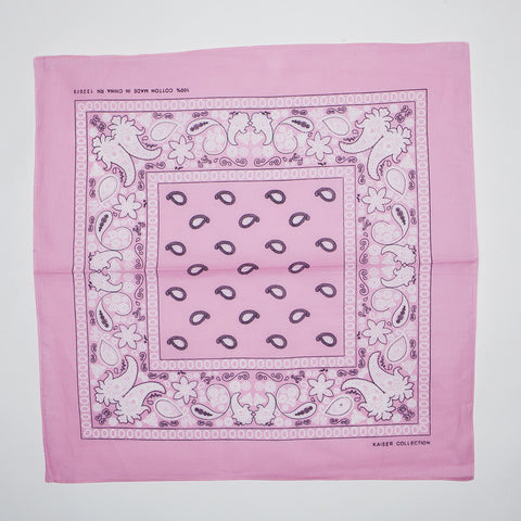 Classic Paisley Pattern Bandanas (Dozen Packed) Light Pink