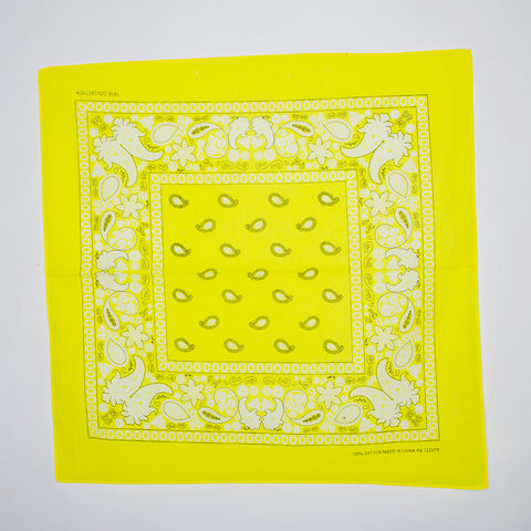 Classic Paisley Pattern Bandanas (Dozen Packed) Yellow