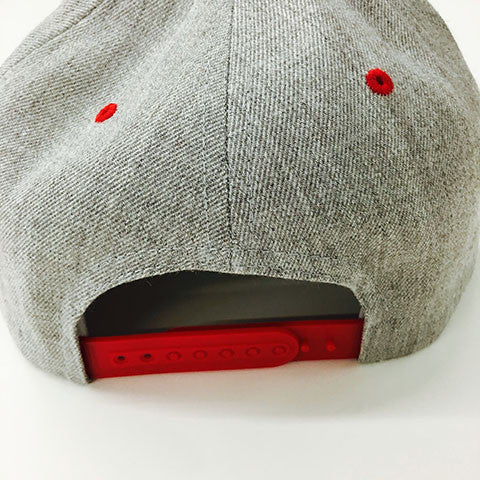 Yupoong The Classic Snapback Heather Grey/Red