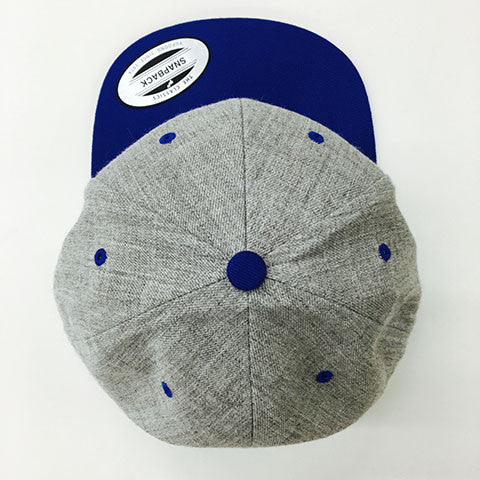 Yupoong The Classic Snapback Heather Grey/Royal
