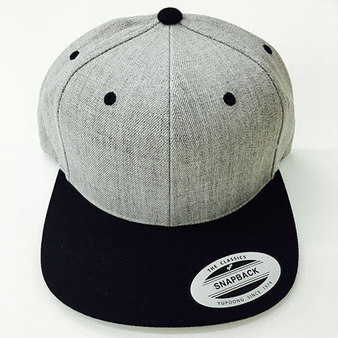 9bb56729dce13 Yupoong The Classic Snapback Heather Grey Black