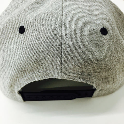 Yupoong The Classic Snapback Heather Grey/Black