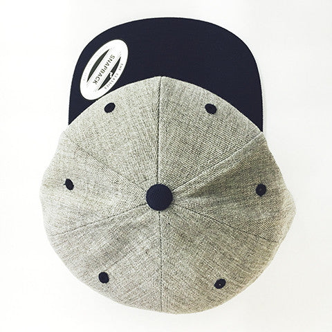 Yupoong The Classic Snapback Heather Grey/Navy
