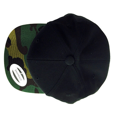 Yupoong Classic Snapback with Camo Visor