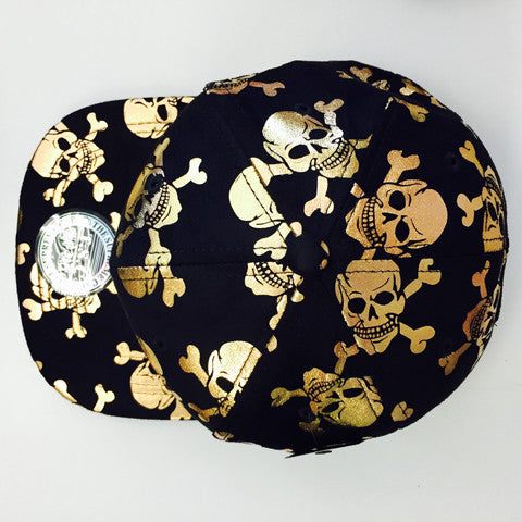Suede Snapback SKULL AND CROSSBORN 1