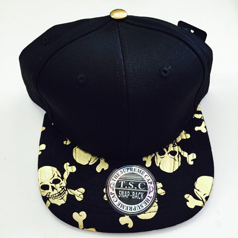 Suede Snapback SKULL AND CROSSBORN 2