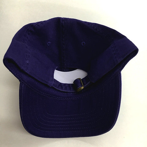 Low Profile Cotton Twill Dad Hat - Purple