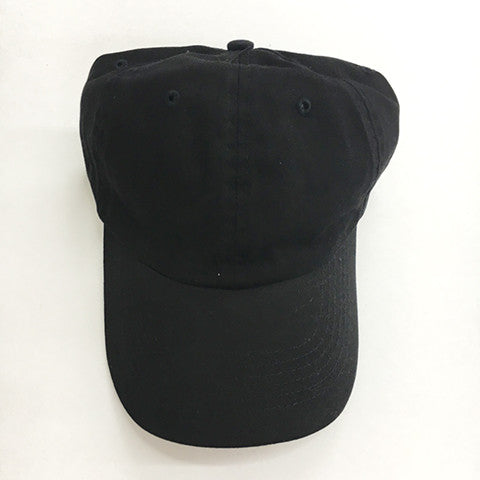 Low Profile Cotton Twill Dad Hat - Black