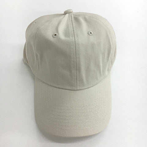 Low Profile Cotton Twill Dad Hat - Ivory