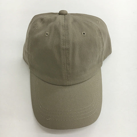 Low Profile Cotton Twill Dad Hat - Khaki