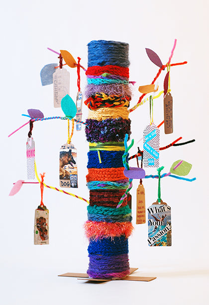 Classroom Yarn Bombed Wish Tree Project and Wishtree Book