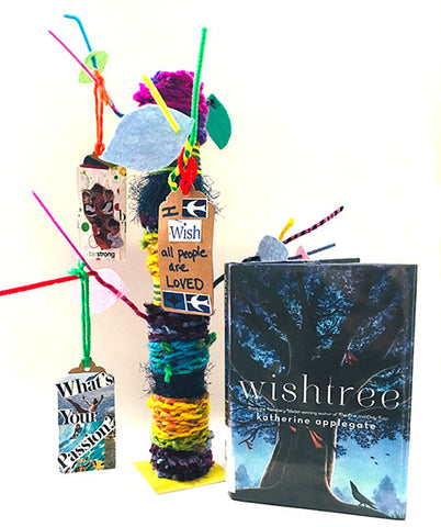 Mini Yarn Bombed Wish Tree Project and Wishtree Book