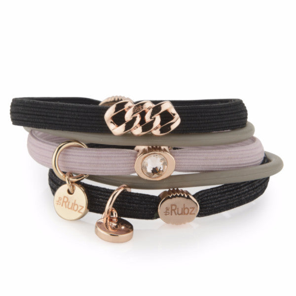 Hair Ties - Black & Rose, The Rubz