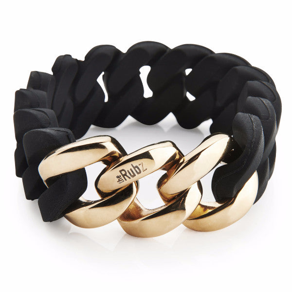 Classic20mm - Black & Soft Gold, The Rubz