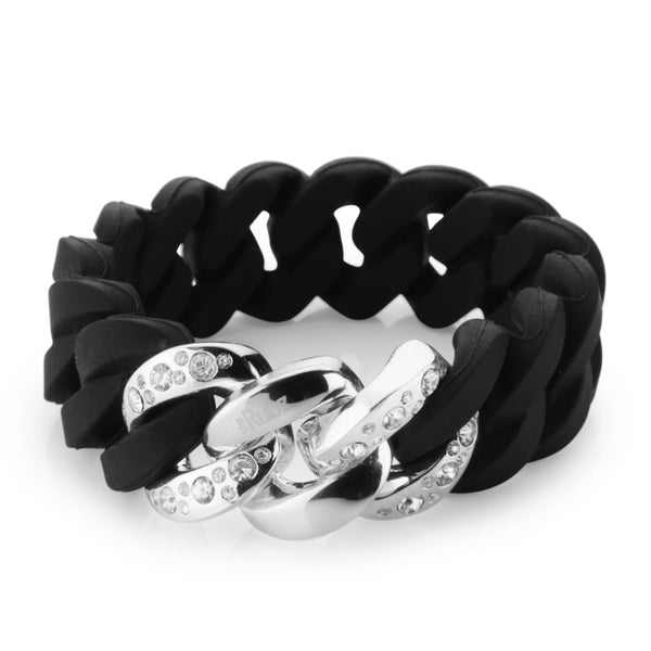 Crystal Classic20mm - Black & Platin Silver