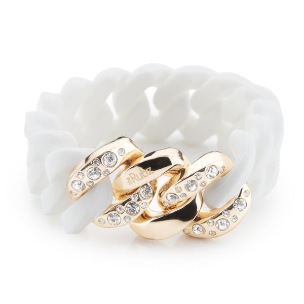 Crystal Classic20mm - White & Soft Gold