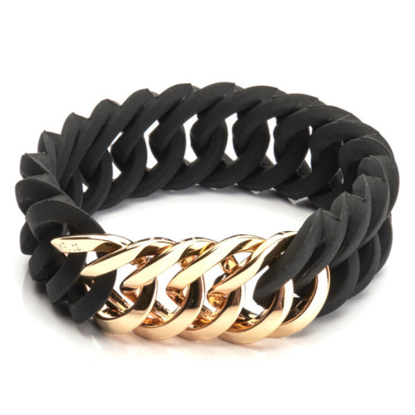 Circle 25mm - Black & Soft Gold